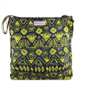 Haute For Diva's Womens Cotton Canvas Ethnic Tribal Aztec Flower Messenger Shoulder Crossbody College Travel Bag