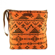 Haute For Diva's Womens Cotton Canvas Ethnic Tribal Aztec Flower Messenger Shoulder Crossbody College Travel Bag