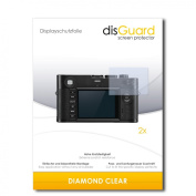 2 x disGuard Diamond Clear Screen Protector for Leica M Monochrom Typ 246 - PREMIUM QUALITY