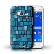 STUFF4 Phone Case / Cover for Samsung Galaxy Ace 4 Lite/G313 / Blue/Turquoise Design / Mosaic Tiles Collection