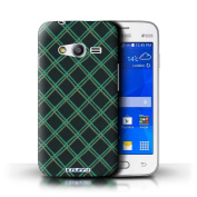 STUFF4 Phone Case / Cover for Samsung Galaxy Ace 4 Lite/G313 / Green/Black Design / Criss Cross Pattern Collection