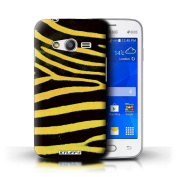STUFF4 Phone Case / Cover for Samsung Galaxy Ace 4 Lite/G313 / Yellow Design / Zebra Animal Skin/Print Collection