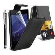 Kamal Star® Sony Xperia E4G E2003 E2006 E2053 Flip PU Leather Magnetic Case Cover + Stylus
