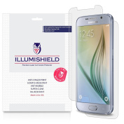iLLumiShield - for Samsung Galaxy S6 Screen Protector & Full Body Skin with Lifetime Replacement Warranty - Japanese Ultra Clear (Front & Back) HD Film with Anti-Bubble and Anti-Fingerprint - High Quality (Invisible) LCD Shield - [3-Pack] OEM / Retail Pac