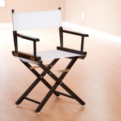 Casual Home 46cm Director's Chair Black Frame with White Canvas