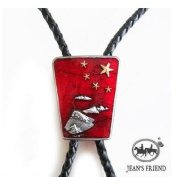 bolo tie bolotie western rodeo cowboy Red stars