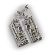 "Charles Rennie. Sterling Silver Earrings ""Lover"" Tarnish Resistant. Free Recorded Delivery."