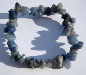 Chip Gemstone Bracelet, with Blue Quartz