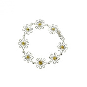 Scorpios Silver Daisy Gold Central Link Chain Bracelet Lovely Quality 1PC