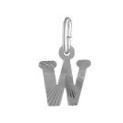 FranceBijoux Letter W Pendant 925 Solid Silver 1 g New