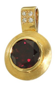 Hobra GOLD PENDANT 585 GOLD WITH DIAMONDS AND GARNET Pendant-Gold WITH GARNET CHARM