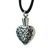 Celtic Pattern Heart Urn Pendant - Memorial Ash Keepsake - Cremation Jewellery
