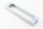 Solid Stainless Steel Shower Door Handle   192mm (19.2cm) Hole to Hole