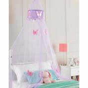 Purple Princess Crown Bedroom Bed Canopy, Girls Bedroom Makeover, 30cmx230cm