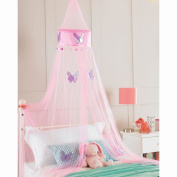 Pink Princess Crown Bedroom Bed Canopy, Girls Bedroom Makeover, 30cmx230cm