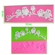 Cute Owls on Branch Lace Embossing Silicone Mould Mould for Cake Decorating Cake Cupcake Toppers Icing Sugarcraft Tool by Fairie Blessings