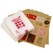 Just for You Red Heart Candy Cookie Bags with Sticker for Gift Packaging, Pack of 95