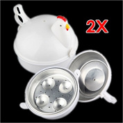 Sonline Plastic Chicken Microwave 4 Egg Boiler Steamer Poacher Boiler Cooker Kitchen Tool