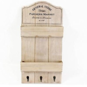50x26cm General Store Wooden Wall Mount Hanging Unit Letter Rack keys Holder