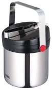 THERMOS vacuum insulation ice bucket stainless black JIN-1300 SBK