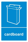 Recycling bin sticker 40cm x 30cm Cardboard - Self adhesive vinyl ...