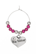 Big Sister Wine Glass Charm Handmade by Libby's Market Place