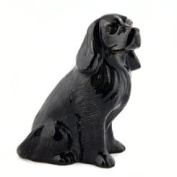 Quail Ceramics - Cocker Spaniel Figure Egg Cup - Black