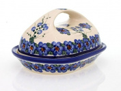 Classic Boleslawiec Hand Painted Stoneware Butter Dish with lid 331-U-001