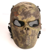 Tactical Airsoft Full Face Protection Mask Hunting Shooting Party Mask Woodland