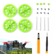Mallom® Green Pinion Shaft Mounting Tools & Gears Kit For Parrot AR Drone 2.0
