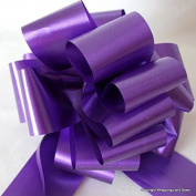 Wrappings and Bows Large Purple Satin Finish Pull Bows 10 bows