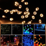 Lychee 10m 33ft 100LED Waterproof Battery Operated Fairy String Lights With 8 Modes for Outdoor Indoor Wedding Garden Home Party Christmas Decoration