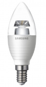 Samsung LED Candle Lamp, E14, 5.2W (25W Equiv) 15,000Hrs, Warm White (2700K), Dimmable, Clear
