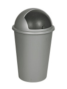 50 Litre Large Plastic Bin With Roll Open Lid