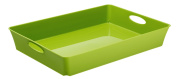 Rotho Living Box 1128519000, dimension approx 29.5 x 29.5 x 39.5 cm (lxwxh), capacity 23 L, design storage box square high made from polypropylene plastic, can be used also as umbrella stand or wrapping paper organiser, green opaque