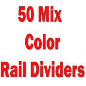 MIX 50 NEW PLAIN COLOURED GARMENT/ CLOTHES RAIL DIVIDERS