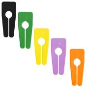 MIX 5 NEW PLAIN COLOURED GARMENT/ CLOTHES RAIL DIVIDERS