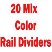 MIX 20 NEW PLAIN COLOURED GARMENT/ CLOTHES RAIL DIVIDERS
