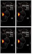 Pack Of 4 Dylon Fabric & Clothes Dye Hand Wash Only - 12 Velvet Black