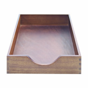 Carver Hardwood Stackable Desk Tray, Legal Size, 16.25 x 28cm x 7cm , Walnut Finish