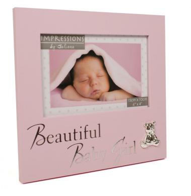 Baby Girl Photo Frame New Born Christening Gift Present