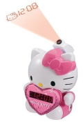 BRAND NEW HELLO KITTY PROJECTION ALARM CLOCK WITH AM/FM RADIO