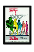 James Bond Dr No One Sheet A3 Framed Print