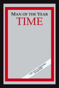 Empire 558336 Printed Mirror with Plastic Frame with Wood Effect Featuring Time Magazine Man of the Year 30 x 40 cm