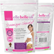Elle Belle UK - Dynamique Chocolate - Dairy Free Low Fat Chocolate Flavoured Meal Replacement Shake (Suitable For The 5:2 Diet, The Fast Diet and Intermittent Fasting) Natural Ingredients - No GMOs, No Bulking Agents or Additives - Additive Free Guaran ..