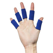 Homgaty 10x Finger Protector Sleeve Support Stretchy Sports Aid Arthritis band Blue