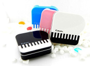 Domire Piano Design Invisible Contact Lenses Box Case Travel Kit Case