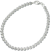Elements Sterling Silver Ladies Ball Chain Bracelet of Length 19cm