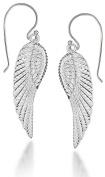 Tuscany Silver Angel Wing Drop Earrings