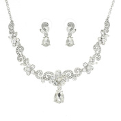 Charmed Austrian Crystal Necklace and Earrings Bridal Jewellery Set